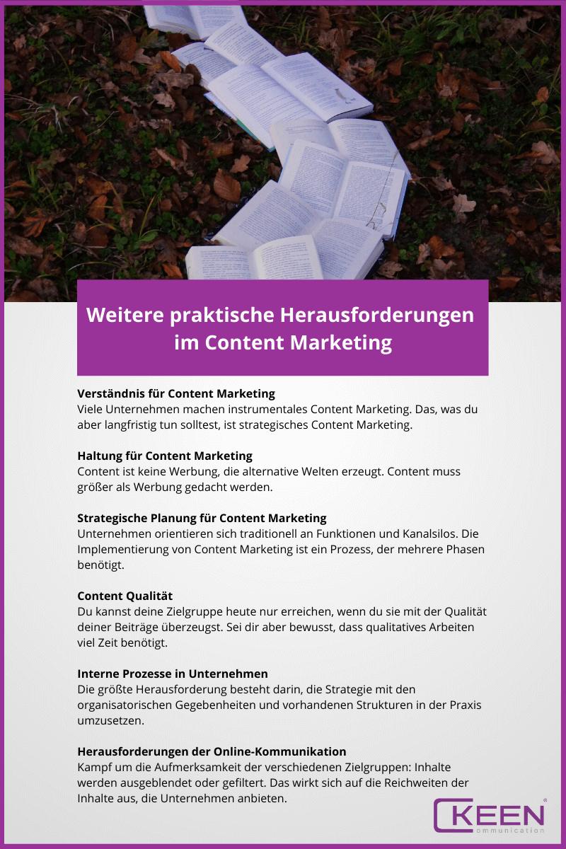 Praktische Herausforderungen im Content Marketing